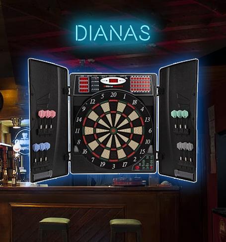 Diana Diana Profesional de sisal Incluye 6 Dardos Anillo num/érico extra/íble